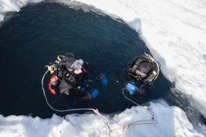 plongée sous glace Montriond Savoie