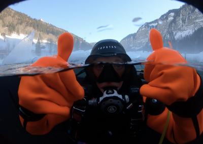 plongée sous glace avoriaz