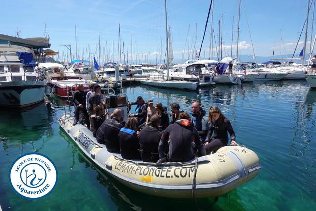 sortie bateau - lac léman, Aquaventure