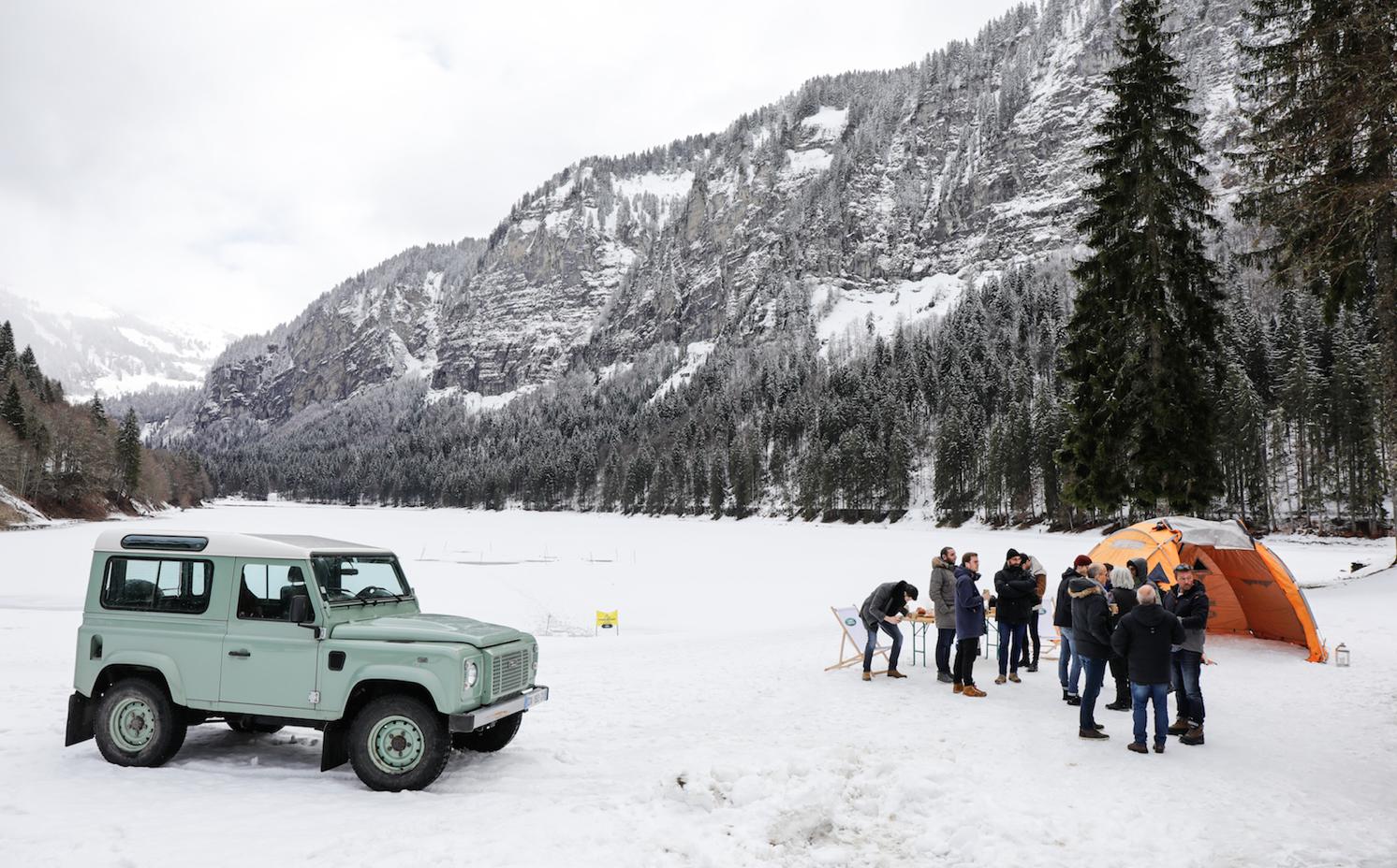 Plongée sous glace montriond range Rover Alban Michon